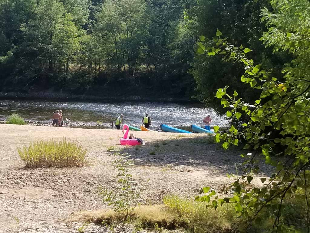plage riviere dordogne camping lot